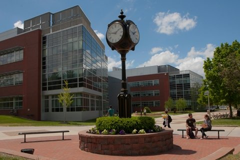 Rowan University's main campus decorative clock