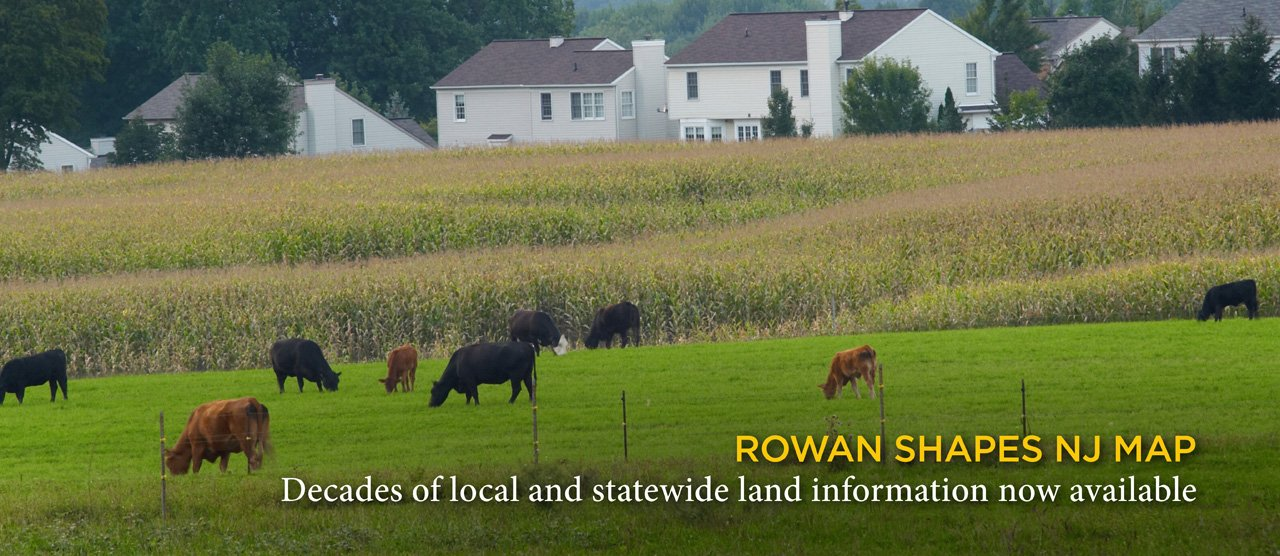 ROWAN SHAPES NJ MAP Decades of local and statewide land information now available