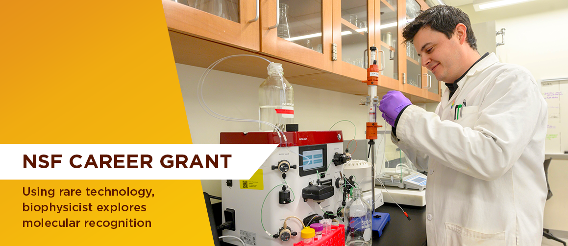 NSF CAREER grant: Using rare technology, biophysicist explores molecular recognition