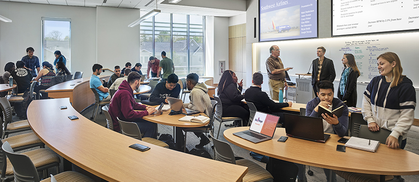Rowan University students in the classroom